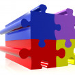 Coloured puzzle pieces — Stock Photo #7634329
