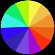 Colour wheel painted - Stock Photo