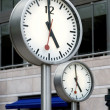 Foto Stock: Corporate clocks
