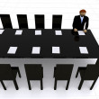Corporate meeting - 3d illustration - Stock Photo