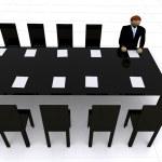 Corporate meeting - 3d illustration — Stock Photo