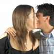 Couple in love kissing - Stock Photo