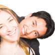 Happy couple with big smile! — Stockfoto