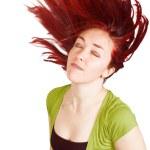 Redhead in green — Stock Photo #7634410