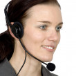 Customer services girl smiling - Foto Stock