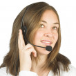 Stock Photo: Friendly customer services - sales representative