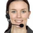 Beautiful customer service girl — Stock Photo