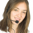 Beautiful business customer services rep - Stock Photo