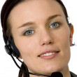 Beautiful customer service girl - Foto Stock
