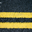 Stock Photo: Double Yellow