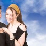 Engaged couple — Stock Photo