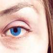 Blue eye close up — Stock Photo