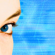 Royalty-Free Stock Photo: Beautiful blue eye for technology