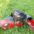 Boots after a match — Stock Photo