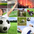 Royalty-Free Stock Photo: Football - soccer composition