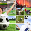 Football - soccer composition — Stock Photo