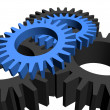 Gears over white - Stock Photo