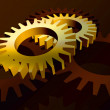 Gears in yellow - Stock Photo