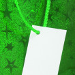 Green gift tag - Stock Photo