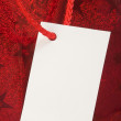 Red gift tag — Foto Stock