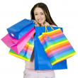 Happy teen with her shopping — Stock Photo