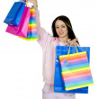 Royalty-Free Stock Photo: Pretty teen with her shopping