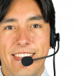 Friendly male customer services representative — Stock Photo