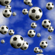 Football multiball — Stock Photo