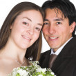Bride and groom, just married! - Stock Photo
