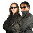 Couple in black - Stock Photo