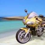 Beach Motorbike — Stock Photo