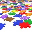 Multicolour puzzle pieces — Stock Photo
