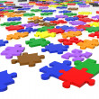 Stock Photo: Multicolour puzzle pieces