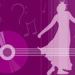 Female dancing - music elements — Stock Photo