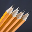Black pencils in perspective — Stock Photo