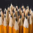 Stock Photo: Pencils over black