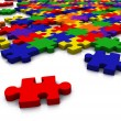 Colour puzzle - everything in focus — Stock Photo