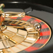 Casino roulette in motion — Stock Photo