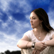 Stock Photo: Pensive woman