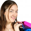 Business woman with shopping bags - sally - Stock Photo