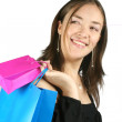 Girl with shopping bags - sally - Stock Photo