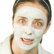 Stock Photo: Scary face mask