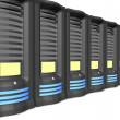 Business servers in a line - Stock Photo