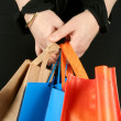 Business woman with shopping bags - Stock Photo