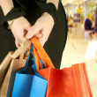 Business girl with shopping bags — Foto Stock