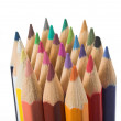 Color pencil tips — Stock Photo