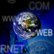 Stock Photo: Blue business worldwide