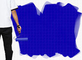 Blue painted wall — Stock Photo