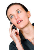 Business woman on a cell phone — Stock Photo