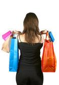 Mujer de negocios con bolsas de compras - sally — Foto de Stock